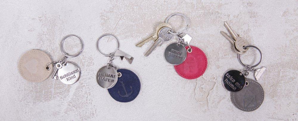 räder Poesietücher, Schlüsselanhäner und Taschen