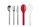 Besteck-Set Ellipse, 3-teilig - nordic red
