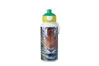 Trinkflasche Pop-up Campus 400 ml - animal planet tiger