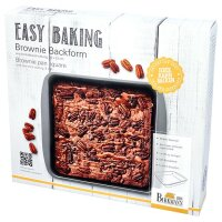 Easy Baking, Brownieblech, 23 x 23 cm, mit...