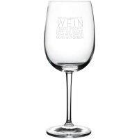 """Weinglas """"Wahrheit im Wein"""""""