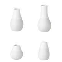 Minivasen 4er Set, weiß