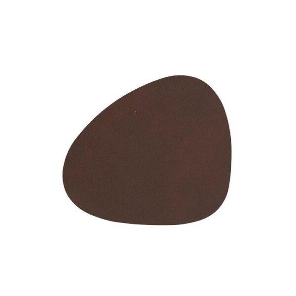 Glasuntersetzer Curve Nupo Dark Brown