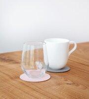Glasuntersetzer wendbar rund Nupo Rose/Light Grey