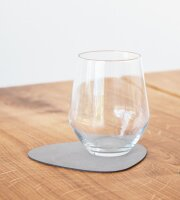 Glasuntersetzer Curve light grey/Nupo