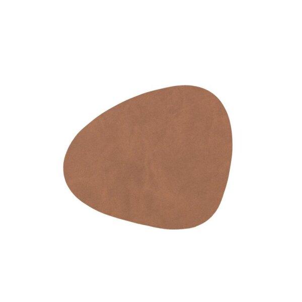 Glasuntersetzer Curve brown/Nupo