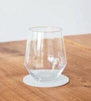 Glasuntersetzer rund 10cm metallic/Nupo