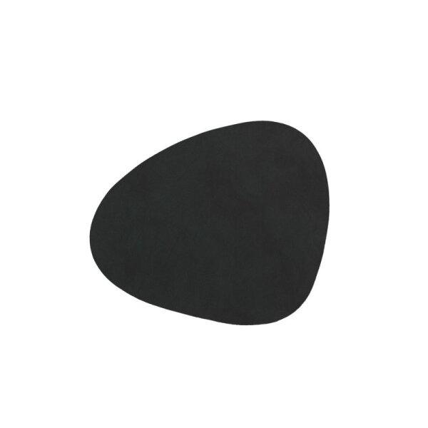 Glasuntersetzer Curve black