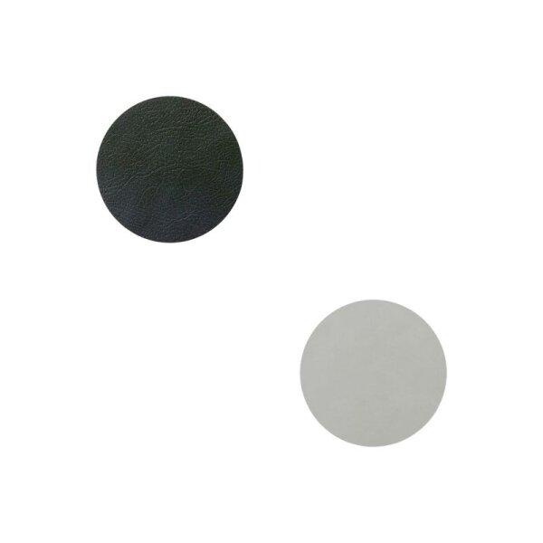 Glasuntersetzer wendbar rund Cloud Black/Nupo Metallic