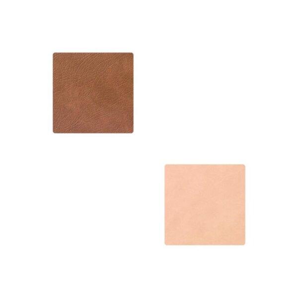 Glasuntersetzer Square wendbar Cloud Brown/Nupo Sand