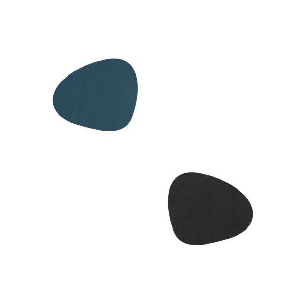 Glasuntersetzer wendbar Curve Nupo Dark Blue/Black
