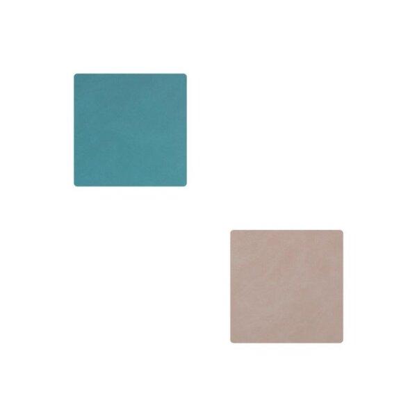 Glasuntersetzer Square wendbar Nupo Light Blue/Light Grey
