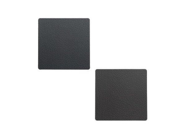 Glasuntersetzer Square wendbar Bull Black/Brown