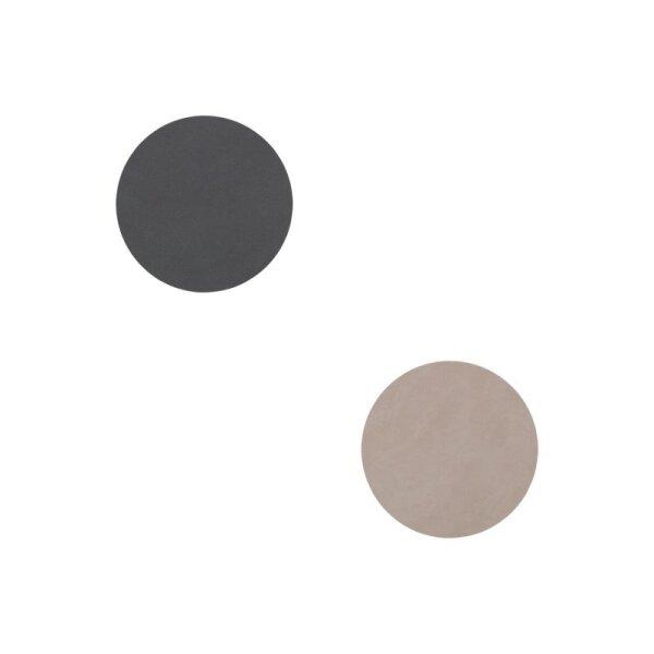 Glasuntersetzer wendbar rund Nupo Anthracite/Light Grey