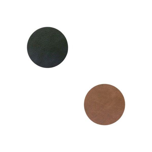 Glasuntersetzer rund wendbar Cloud Black/Brown
