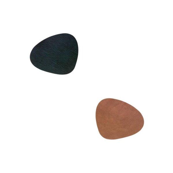 Glasuntersetzer Curve wendbar Cloud Black/Brown