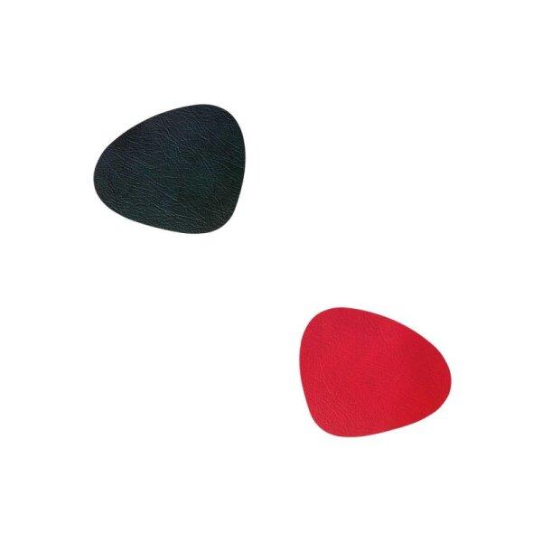 Glasuntersetzer Curve wendbar Cloud Black/Red