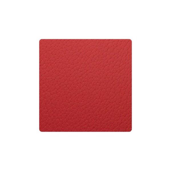 Glasuntersetzer Square Bull Red