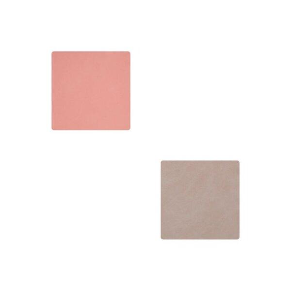Glasuntersetzer Square wendbar Nupo Rose/Light Grey