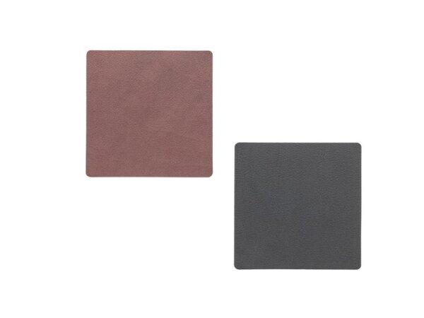 Glasuntersetzer Square Croco Black
