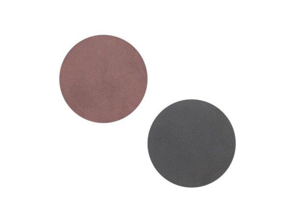 Glasuntersetzer wendbar rund Nupo Purple/Black