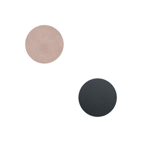 Glasuntersetzer wendbar rund Bull Warm Grey/Black