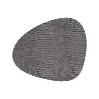 Tischset Curve L Croco Silver-Black