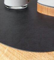Tischset Curve L wendbar Cloud Black/Brown