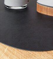 Tischset Curve L wendbar Cloud Black/Red