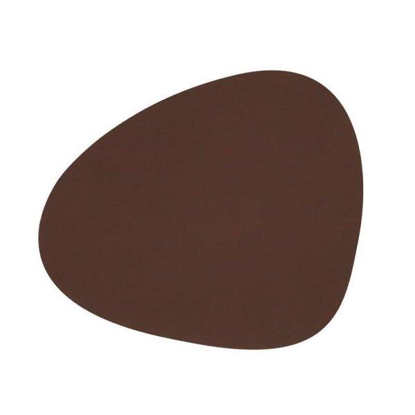 Tischset Curve L Nupo Dark Brown