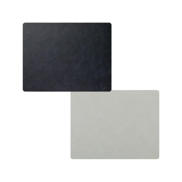 Tischset Square L wendbar Cloud Black/Nupo Metallic
