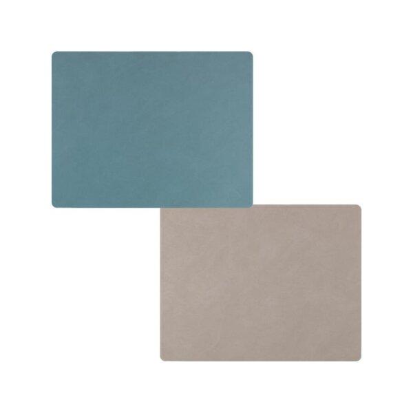 Tischset Square L wendbar Nupo Light Blue/Light Gr.