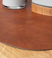 Tischset Curve L wendbar Bull Cognac/Black