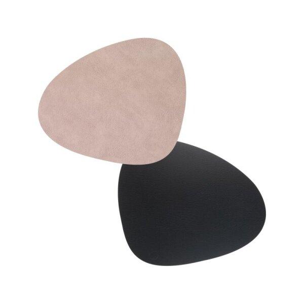 Tischset Curve L wendbar Bull Warm Grey/Black