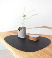 Tischset Curve L wendbar Cloud Black/Nupo Metallic