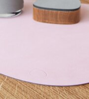 Tischset Curve L wendbar Nupo Rose/Light Grey