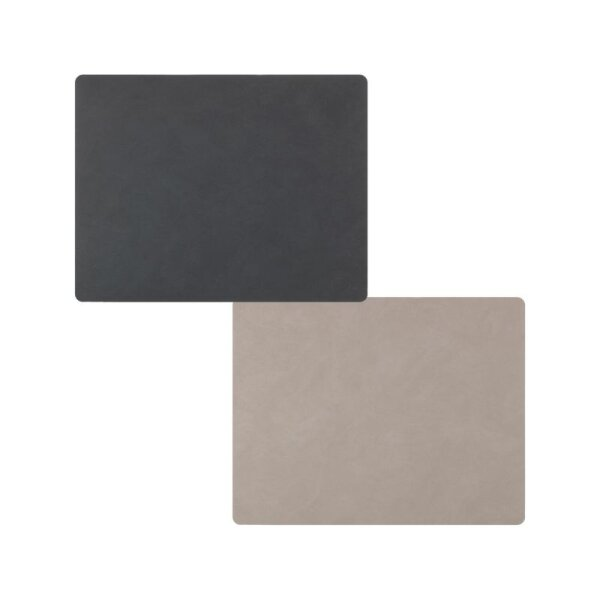 Tischset Square L wendbar Nupo Ant./Light Grey
