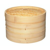 KitchenCraft World of Flavours Bamboo Steamer, 25 cm