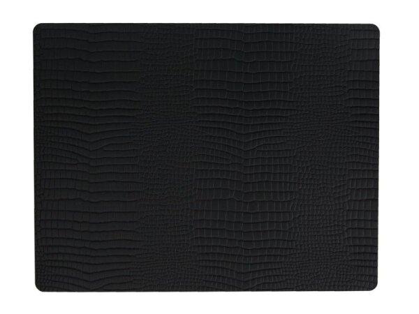 Tischset Square L Croco Black