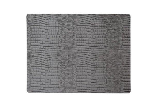 Tischset Square L Croco Silver-Black