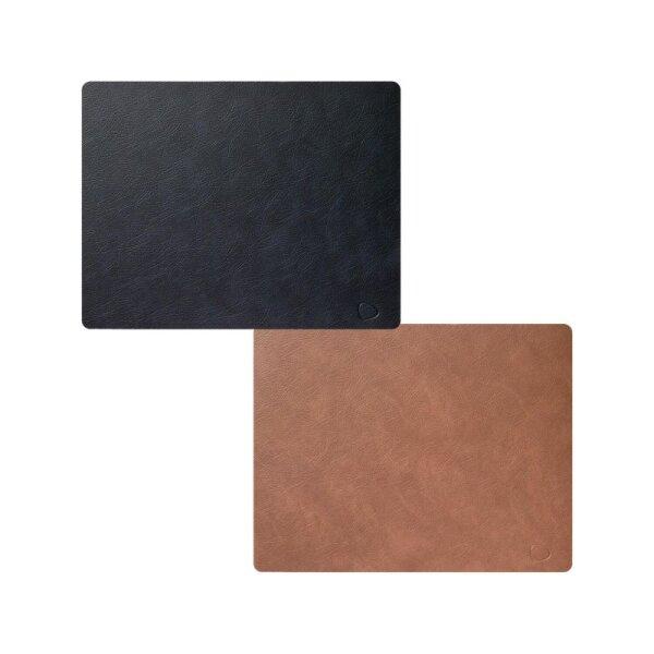 Tischset Square L wendbar Cloud Black/Brown