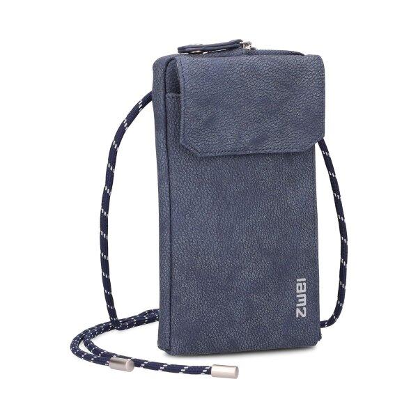 MADEMOISELLE.M Phone Bag MP30 nubuk-blue