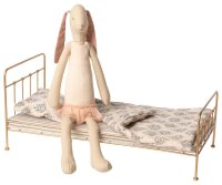 Bunny Ballerina & Metal gold bed, Medium