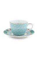 Espresso Cup & Saucer Blushing Birds Blue 120ml