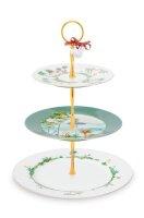 Cake Stand 3/Layers Jolie 17-21-26.5cm
