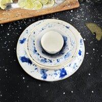 Becher Marine Splash weiß/blau/gold