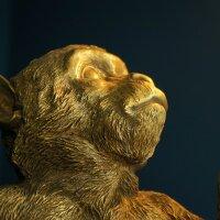 Affen Tischleuchte Abu, sitzend