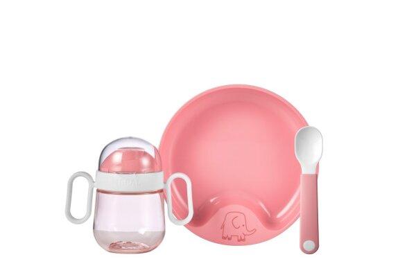 set babygeschirr mio 3-teilig - deep pink