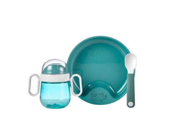 set babygeschirr mio 3-teilig - deep turquoise