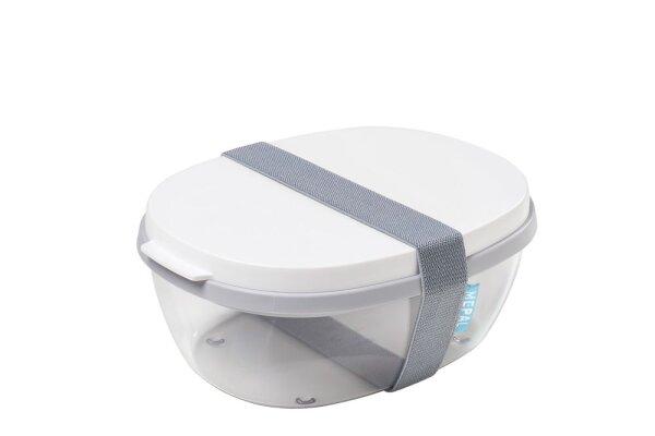 Salatbox Ellipse - weiß